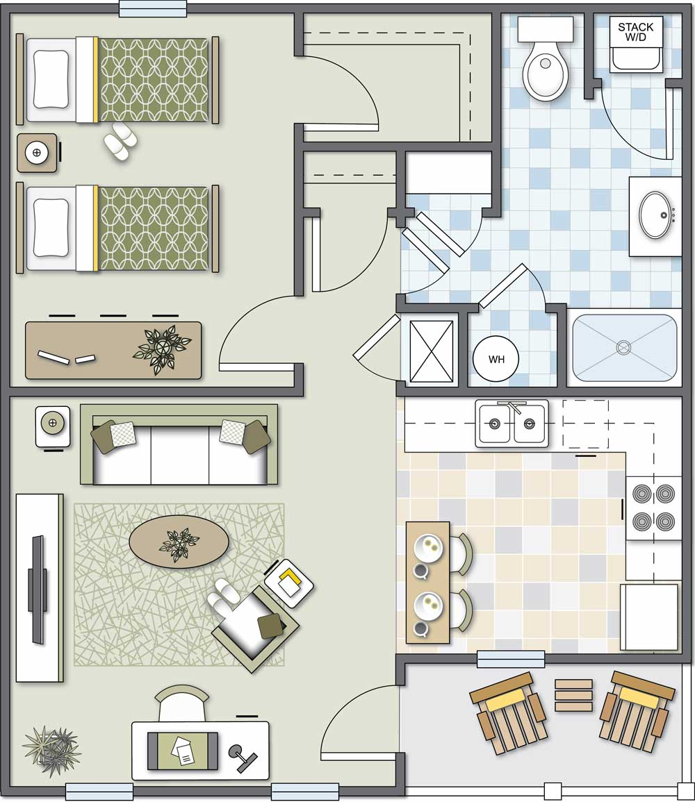 Independent Living New: One-Bedroom