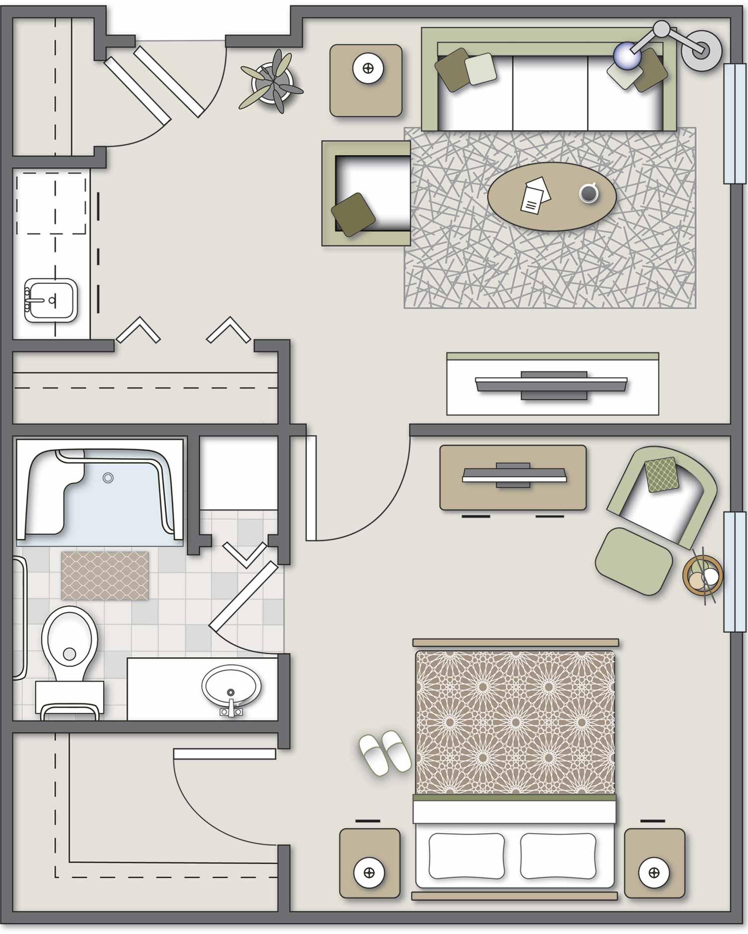300 SW Fort, One-Bedroom
